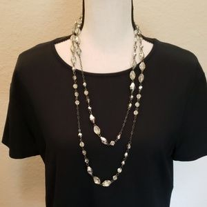 Candie's silver and clear beaded necklace